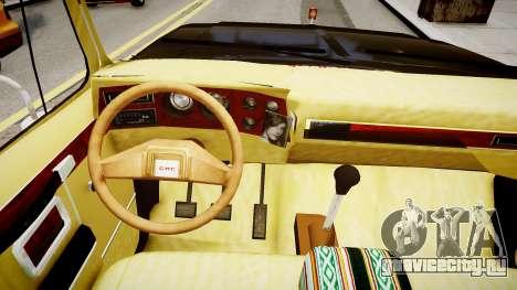 GMC 454 Pick-Up для GTA 4 вид изнутри