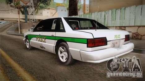 Declasse Premier 1993 Angel Pine Police для GTA San Andreas вид слева