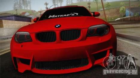 BMW M1 E82 для GTA San Andreas вид сзади слева