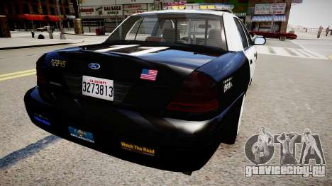 Ford Crown Victoria LAPD для GTA 4 вид справа