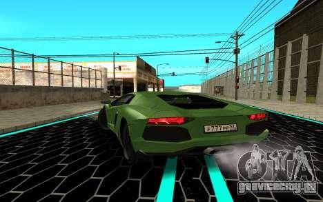 Lamborgini Aventador для GTA San Andreas вид сзади слева