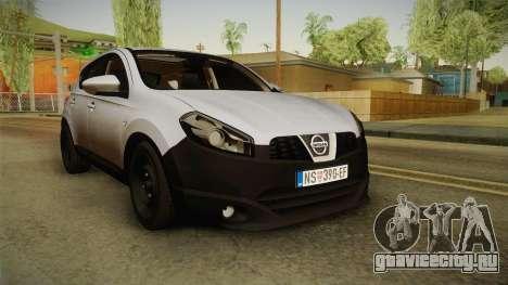 Nissan Qashqai для GTA San Andreas вид сзади слева