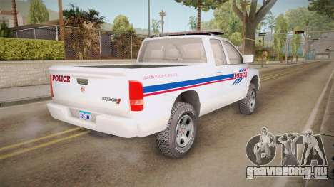 Dodge Ram 2008 Union Pacific Railroad PD для GTA San Andreas вид справа