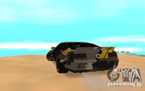 Ford Mustang Evil Empire 2016 для GTA San Andreas вид сзади слева