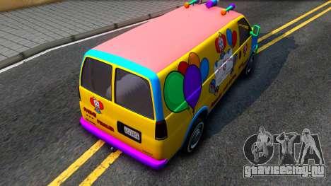 GTA V Vapid Clown Van для GTA San Andreas вид сзади