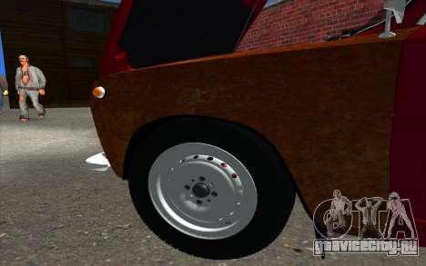 ВАЗ 2101 GVR для GTA San Andreas вид изнутри