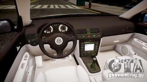 Volkswagen bora police для GTA 4 вид изнутри