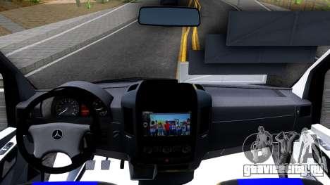 Mercedes-Benz Sprinter для GTA San Andreas вид изнутри