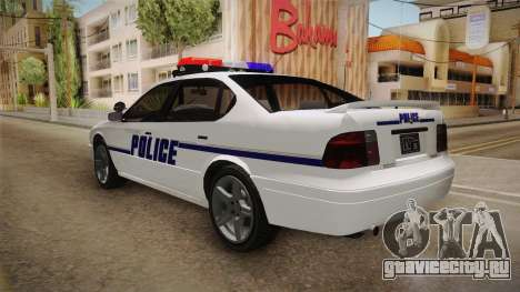Declasse Merit 2005 Dillimore Police Department для GTA San Andreas вид слева