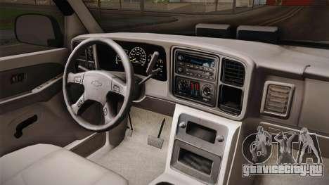 Chevrolet Suburban Z71 FBI для GTA San Andreas вид изнутри
