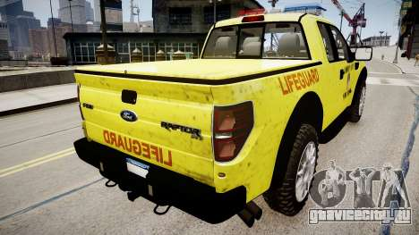 Ford Raptor SVT Department Lifeguard для GTA 4 вид слева