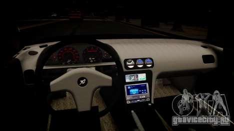 Nissan 240SX Light Tuning для GTA 4 вид изнутри