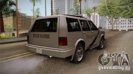 Dundreary Landstalker 1993 SA State Patrol для GTA San Andreas вид справа