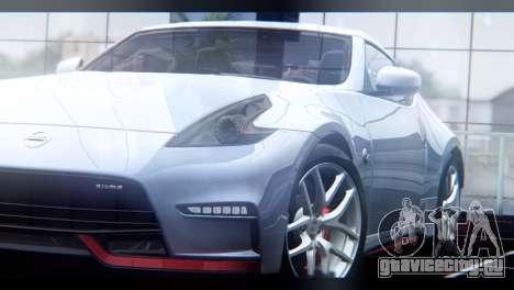Nissan 370Z Nismo 2016 EU Plate для GTA San Andreas вид сзади
