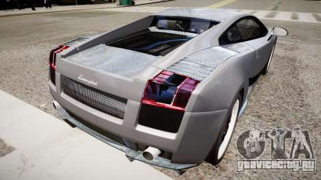 Lamborghini Gallardo Superleggera Custom 2007 для GTA 4 вид сзади слева