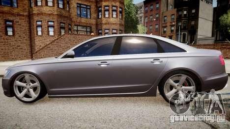 Audi A6 2012 Style для GTA 4 вид слева
