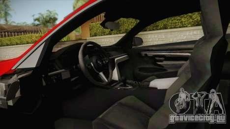 BMW M4 Liberty Walk для GTA San Andreas вид изнутри