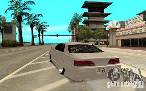 Toyota Cresta JZX100 для GTA San Andreas вид сзади слева