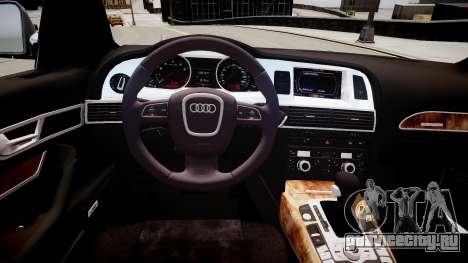 Audi A6 для GTA 4 вид изнутри