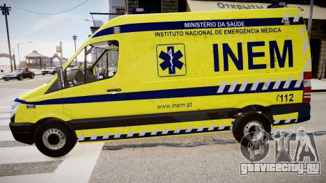 INEM Ambulance для GTA 4 вид слева