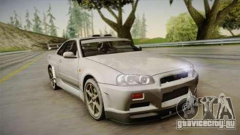 Nissan Skyline Tunable Pro Street для GTA San Andreas вид снизу