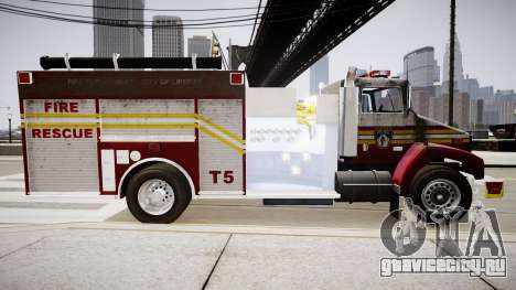 Новая пожарная машина T5 для GTA 4 вид слева