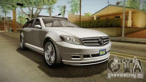 GTA 5 Benefactor Schafter Wagon для GTA San Andreas вид справа