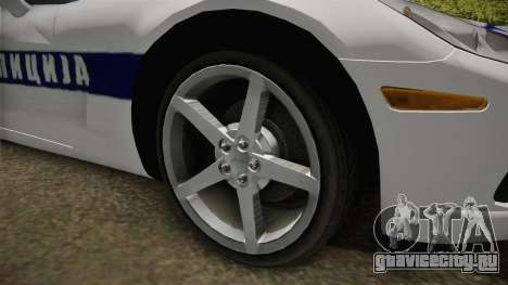 Chevrolet Corvette C6 Serbian Police для GTA San Andreas вид сзади