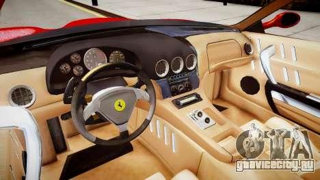 Ferrari 575M Maranello для GTA 4 вид изнутри
