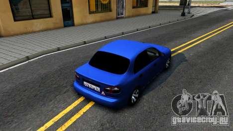 Daewoo Lanos V3 для GTA San Andreas вид сзади