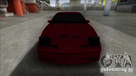 Pontiac Trans AM для GTA San Andreas вид сзади