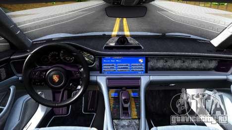 Porsche Panamera 4S 2017 v 1.0 для GTA San Andreas вид изнутри