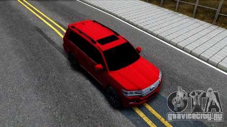 Toyota Land Cruiser 2016 для GTA San Andreas вид справа