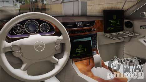Mercedes-Benz CLS 500 Turkish Police для GTA San Andreas вид изнутри