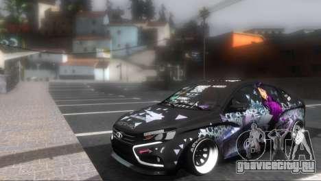 Lada Vesta ITASHA PROJECT NERV MISATO для GTA San Andreas