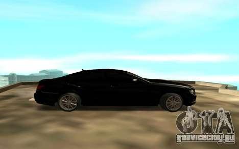 Mercedes C 63 для GTA San Andreas вид слева
