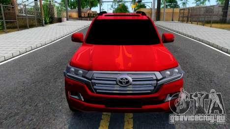 Toyota Land Cruiser 2016 для GTA San Andreas вид изнутри