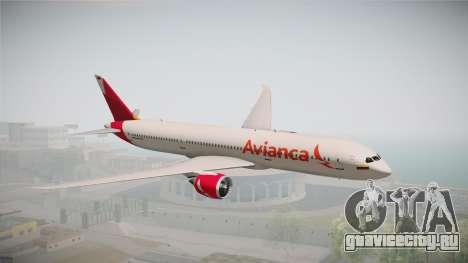 Boeing 787 Avianca для GTA San Andreas вид сзади слева