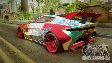 GTA 5 Dewbauchee Specter Custom для GTA San Andreas вид сбоку