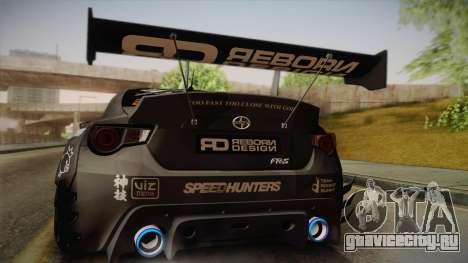Scion FR-S Rocket Bunny PANDEM v3 RD Style для GTA San Andreas вид изнутри