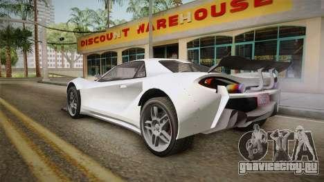 GTA 5 Progen Itali GTB Custom IVF для GTA San Andreas вид слева