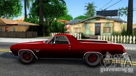 Chevrolet El Camino SS для GTA San Andreas вид слева