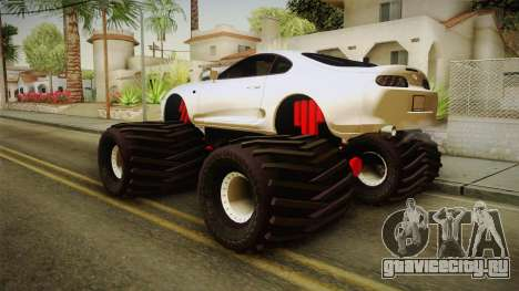 Toyota Supra Monster Truck для GTA San Andreas вид слева