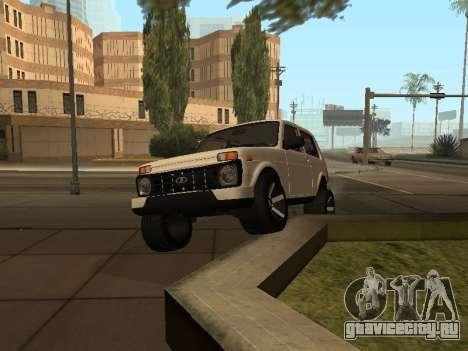 Lada Urban 2016 для GTA San Andreas вид изнутри