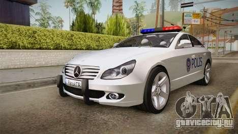 Mercedes-Benz CLS 500 Turkish Police для GTA San Andreas вид справа