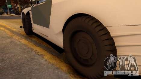Nissan GTR Armored White 2017 для GTA 4 вид сзади