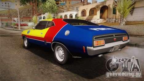 Ford Falcon 351 GT AU-spec (XB) 1973 HQLM для GTA San Andreas вид сверху