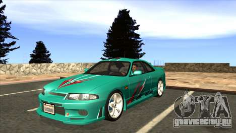 Nissan Skyline GTS25-t Mk.IX [R33] IVF Tunable для GTA San Andreas вид снизу