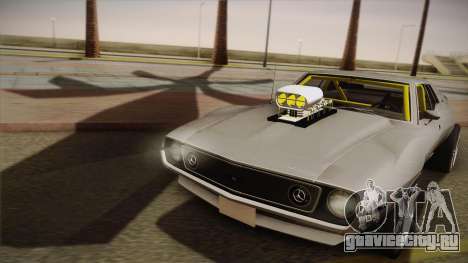 AMC Javelin AMX 401 1971 Drag для GTA San Andreas вид сзади слева