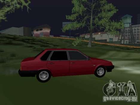 VAZ 21099 Armenian для GTA San Andreas вид слева